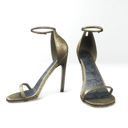 Ankle strap sandals  for Nicci - glitter light yellow