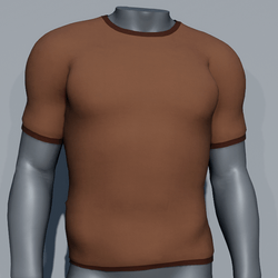 Men Plain TeeShirt - Brown