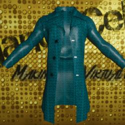 Male Blue Indigo Snake Skin Jacket