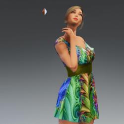 Sexy Satin Dress #1