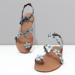 Ring toe sandals for Alina  - blue