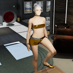 Female Cosmos Silver & Gold Shoes