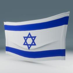 Israel Flag Wall Display