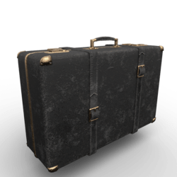 Vintage Suitcase Black-Gold