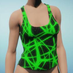 Sleeveless t-shirt Green-poison