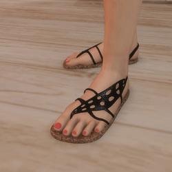 Sandals - Flip-flops with  Leaf