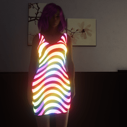 Dress Dance Neon Wave animated