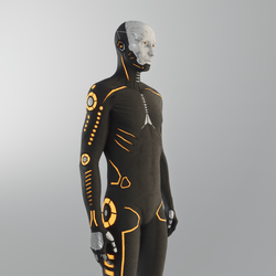 New daft suit full avatar (black) 2.0 LED