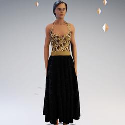 Sparkling Golden Dress
