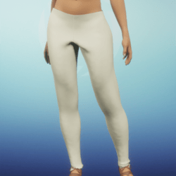ivory leather leggins