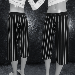 Culottes with stripes black