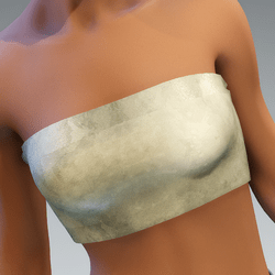 tube top silk shiny cream