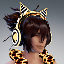 neon headphone with cat ears (yellow)