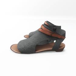 AV 2.0   Open toe textile sandals - grey