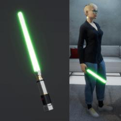 Light Saber Green_female