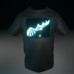 T-Shirt LED DNA