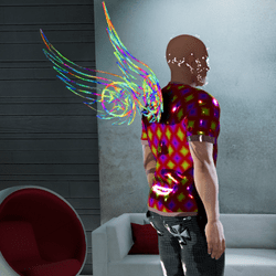 Male Firery-Glow Animated Wings