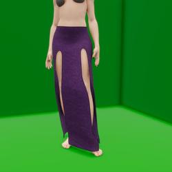 Simple Split Skirt Purple (TM)