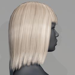 Hair - Middle Long with Fringe - Blonde Swidish