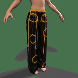 Raver Pants Female - Orange
