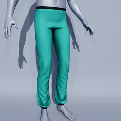 Men Sport Pants - Green Arcadia