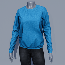 Women Sweater - Mosaic Blue