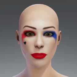 Makeup Harley Quinn Default AV
