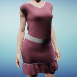 Summer Dress with a Pink Silk Cotton Texture