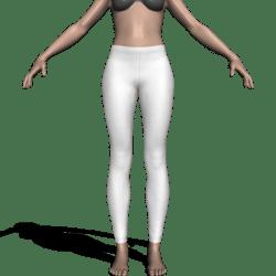 Leggings w/Waistband & Hems