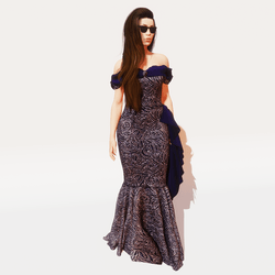 1940's gown ~  Amethyst