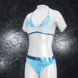Undies Christmas blue snow