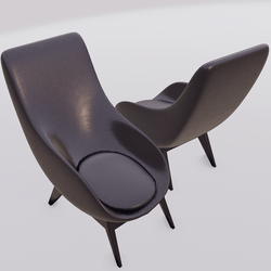 Oyster Lounge Chair Dark Purple