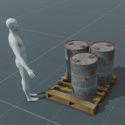 Oil Drums on Wood Pallet