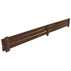 Little wood fence 5 meters