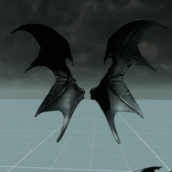 Demon Wings Male Skeleton