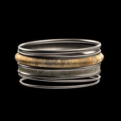 Stone Bangle Bracelet Set
