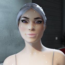 Female Galaxy Avatar (Glossy)