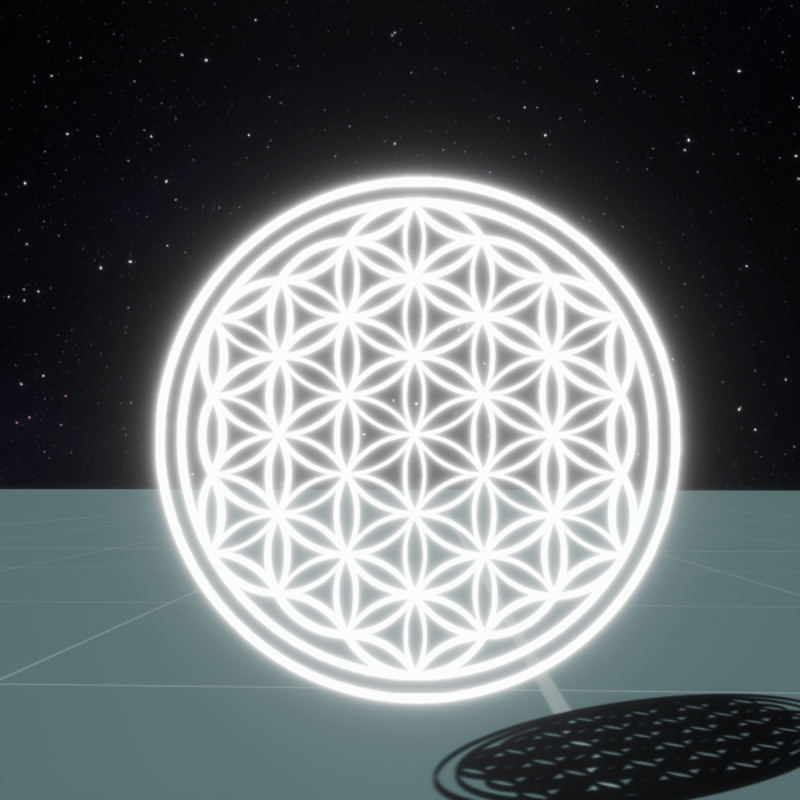 FLOWER OF LIFE GLOWING MESH - Decorative sculpture | Sansar