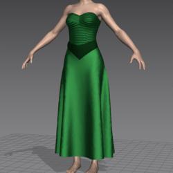 green hi-glam evening dress