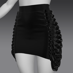 Fabric skirt with latex belts