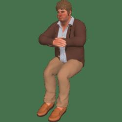 Romanov sitzt