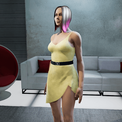 Dress Lara plastic yellow