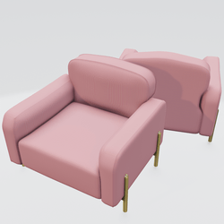 Hero Lounge Chair Pink