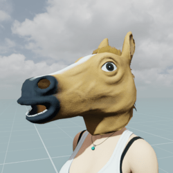 Horse (Thoroughbred) mask  Head accessory.