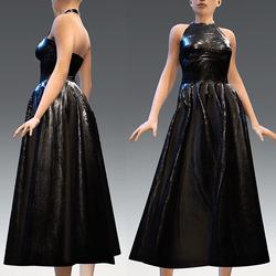 Black Rubber Dress Version 1