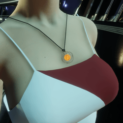 HoverDerby - Red atom necklace (female)