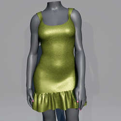 Glitter Party Dress - Green Moss