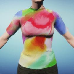 Comfortable Fit Watercolour Women's T-Shirt
