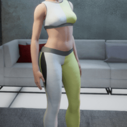 Sports Bra Lemon White