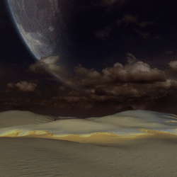 SCULPTED OTHER SPACE LAND TERRAIN ENVIRONMENT/SKY PLATFORM